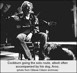 With his dog Aroo