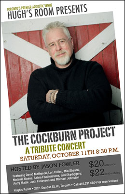 Bruce Cockburn Tribute Concert Poster by Jason Fowler