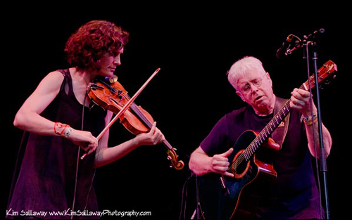 Bruce Cockburn and Jenny Scheinman at Kate Wolf Festival 2011- Photo by Kim Sallaway