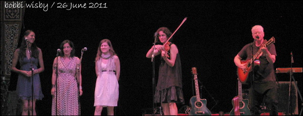 Bruce Cockburn - Jenny Scheinman - Wailin Jennys at Kate Wolf Festival 2011- Photo by bobbi wisby