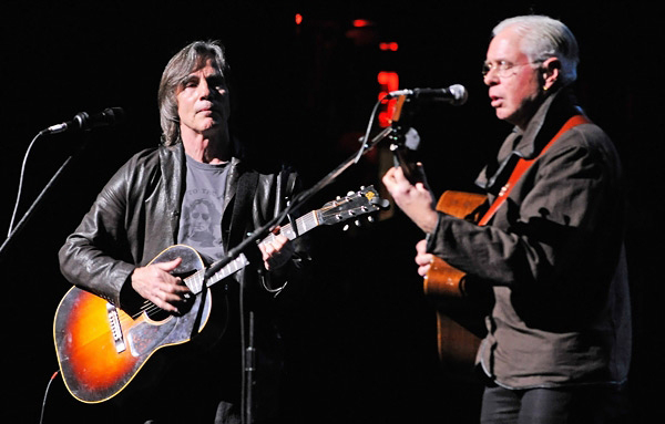 Jackson Browne and Bruce Cockburn at Bring Leonard Peltier Home Concert 12-15-12