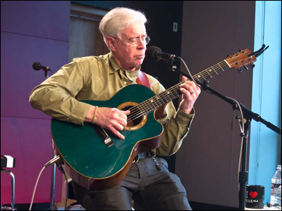 Bruce Cockburn at KUTX radio studio