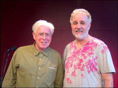 Bruce Cockburn and Jody Denberg  at KUTX radio studio