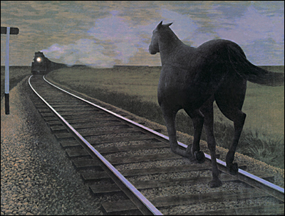 Alex Colville's Horse and Train