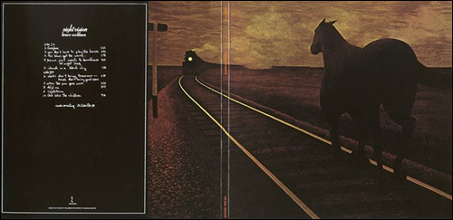 Bruce Cockburn's Night Vision album cover with Horse and Train painting by Alex Colville