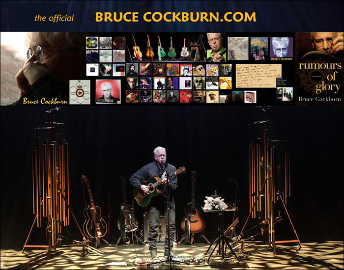 BruceCockburn.com new website launch